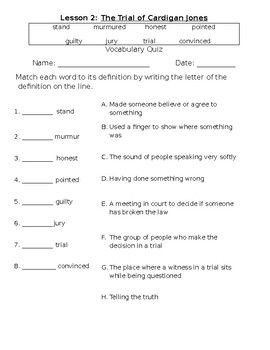 Lesson 2 Of Journeys For Third Grade This Is A Vocabulary Quiz For The Trial Of Cardigan Jones The Front Is A Vocabulary Quiz Third Grade Lessons Vocabulary Houghton mifflin math worksheets answers