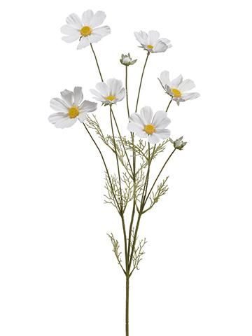 Charming White Cosmos Silk Wildflowers Will Bring Whimsy To Your Diy Wedding Bouquets Wreaths And Floral Cosmos Flowers Silk Flowers Wedding Silk Wildflowers