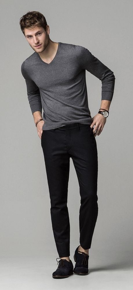 Massimo Dutti | Sweater outfits men, Mens casual outfits
