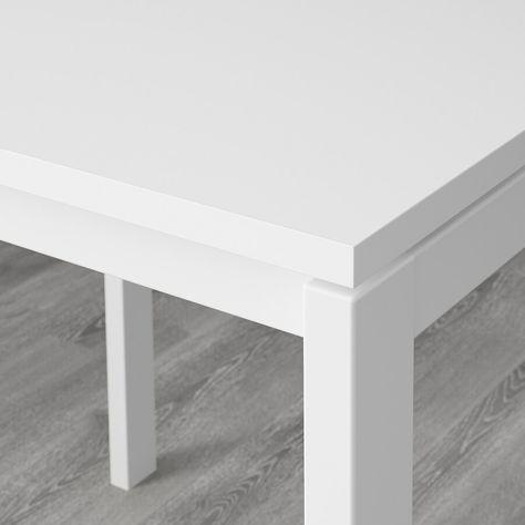 MELLTORP / MARIUS Table and 2 stools - white/black 29 1/2