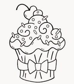 Riscos Graciosos Cute Drawings Cupcakes Sorvetes E Bolos Cupcakes Ice Creams And Cake Paginas Para Colorir Para Adultos Selos Digitais Padroes De Bordado