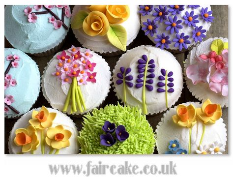 spring garden cupcakes