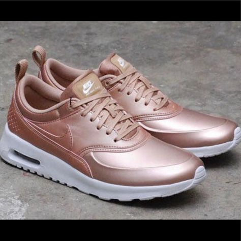 Nike Shoes | Rose Gold Nike Air Max Thea (8.5) | Color: Gold