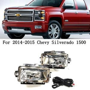 Clear Lens Fog Lights Assembly Kit For 2014 2015 Chevrolet Silverado 1500 With Brackets Switch In 2020 Chevrolet Silverado 2015 Chevrolet Silverado 1500 Silverado