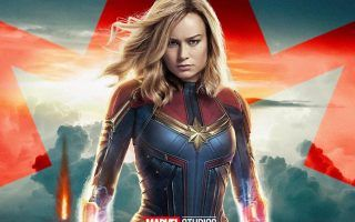 Captain Marvel Wallpaper With High Resolution 1920x1080 Pixel You Can Use This Poster Wallpaper For Your De Captain Marvel Best Movie Posters Marvel Wallpaper