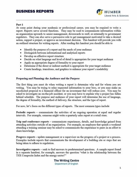 Business Report Format Template Examples And Forms With Regard To