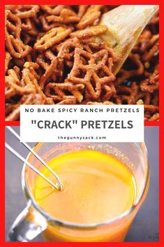 These Crack Pretzels are no bake spicy ranch pretzels with an irresistibly crunchy, salty, buttery taste. These seasoned pretzels are the perfect snack for every occasion! snacks, Christmas Crack Pretzels Recipe - The Gunny Sack Yummy Appetizers, Yummy Snacks, Appetizer Recipes, No Bake Snacks, Holiday Appetizers, Spicy Pretzels, Ranch Pretzels, Snack Mix Recipes, Cooking Recipes