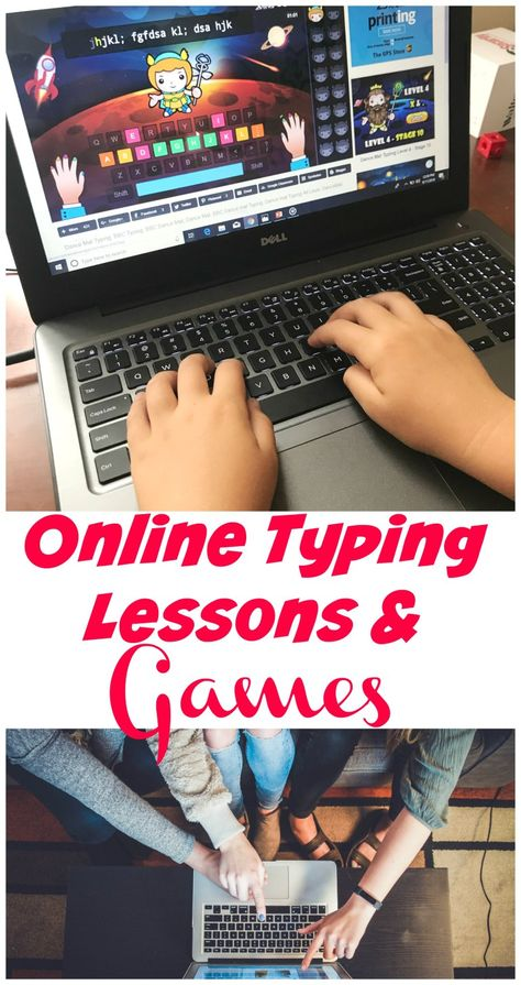 Keyboard Lessons Are you looking for Keyboarding or typing lessons online? KidzType has fun engaging lessons and free games that make learning to type fun! Keyboard Lessons, Computer Lessons, Computer Lab, Computer Teacher, Technology Lessons, Typing Skills, Typing Games, Learning To Read Games, Kids Learning