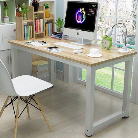 Ktaxon Wood Computer Desk Pc Laptop Study Table Workstation Home Office Furniture Walmart Com Wood Computer Desk Pc Desk Home Office Furniture
