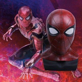 2018 Movie Avengers 3 Infinity War Iron Spider Man Cosplay Mask Superhero Latex