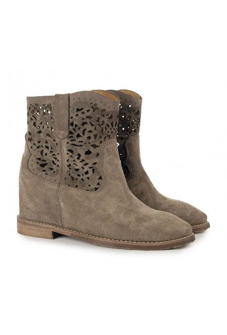 Naturalna Wloska Skora Zamszowa Shoes Boots Ankle Boot