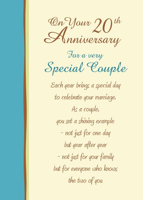 20th Anniversary Wishes For A Special Couple Card Ad Ad Wishes Anniversary Card Couple 20th Anniversary Wedding Anniversary Greetings Anniversary