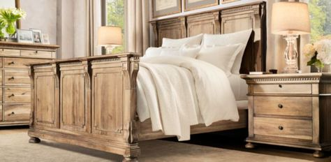 Deconstructed Chesterfield Fabric Bed   Restoration Hardware   bed ...