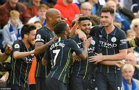 Brighton 1-4 City: Aguero, Laporte, Mahrez and Gundogan secure title #aguero #brighton #City #gundogan #laporte #mahrez #secure #title