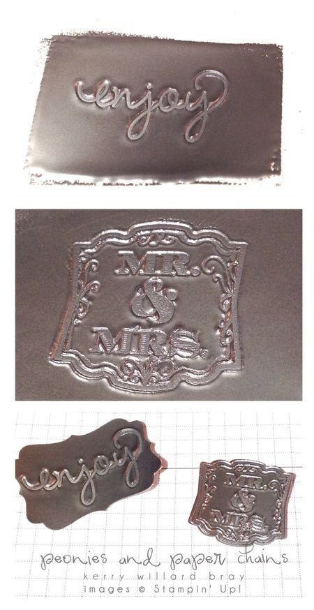 Making SU Stamped Medallions with embossing powder   (02/25/2014)