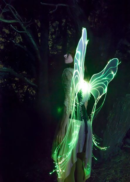 Programmable Fiber Optic Fairy Wings Green Fairy Wings Diy Fairy Wings Fairy Wings