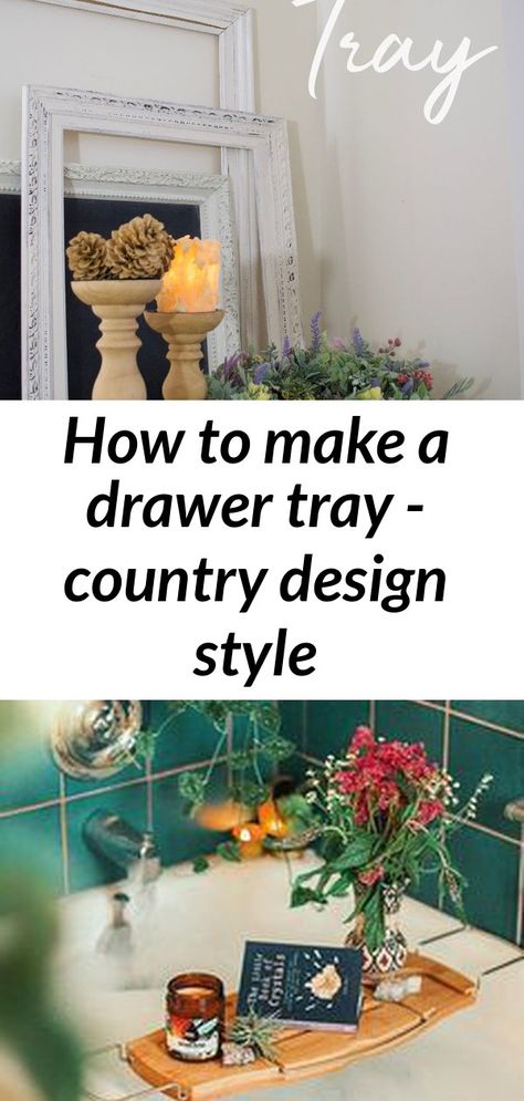 How to make a drawer tray - country design style