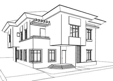 Ausmalbild Haus Skizzen Haus Plane Hausplane