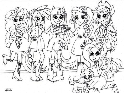 Großartig Meine Kleine Pony Equestria Mädchen Malvorlagen ...