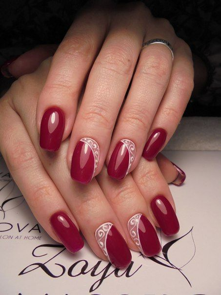 Nail Art Designs In Red Colour