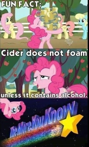Pinkie Pie is a raging alcoholic. Yep, I should've guessed. Pinkie Pie, Mlp Memes, My Little Pony Comic, Little Poni, Mlp Comics, Mlp Pony, The More You Know, My Little Pony Friendship, Fluttershy