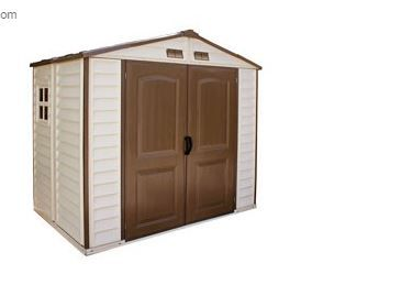 Duramax 8x6 Storeall Vinyl Shed With Foundation Kit Vinyl Sheds Shed Foundation Kit
