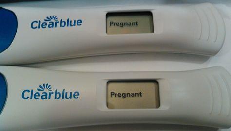 clear blue pregnancy test pictures positive