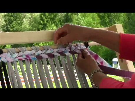 Rag Rug Weaving - Part 1 The Warp