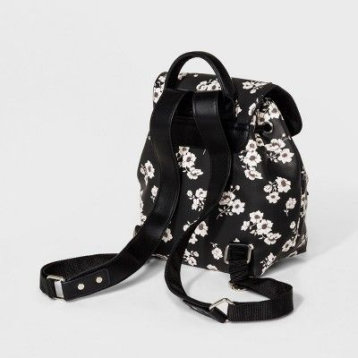 a13ca923a9bf Women s Printed Mini Backpack - Wild Fable Black