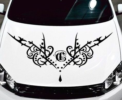 Batman Tribal Decal Graphic Vinyl For Side Of Car Or Truck - Vinyl decals cartribal hearts decal vinylgraphichood car hoods decals and