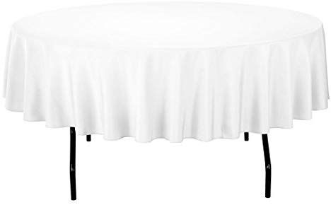 Amazon Com Gee Di Moda Tablecloth 120 Inch Round Tablecloths For Circular Table Cover In Black Washabl Buffet Table 70 Inch Round Tablecloth Circular Table