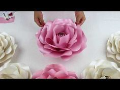 Youtube Fiori Di Carta.Diy Paper Flower Center 4 Youtube Come Fare Fiori Di Carta
