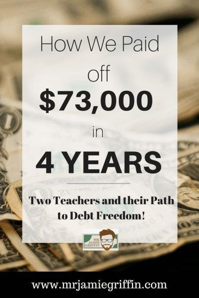 How We Paid Off 73k Of Student Loan Debt In 4 Years Student