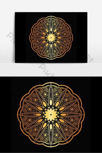 Golden Stars Luxury Mandala Design Png Images Eps Free Download Pikbest In 2020 Mandala Design Golden Star Sign Design