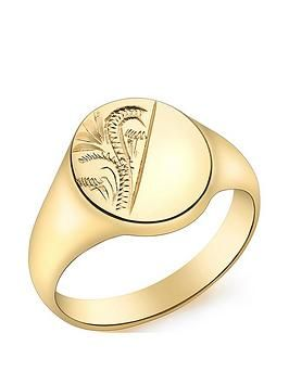 14k Signet Ring Size 4 Length Width 2 to 6