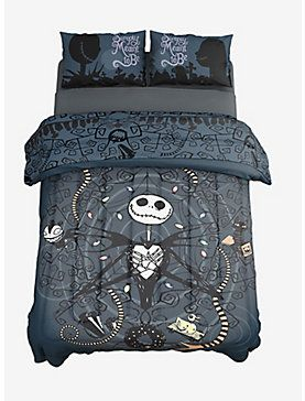 The Nightmare Before Christmas Jack Snakes Full Queen Comforter Nightmare Before Christmas Bedding Nightmare Before Christmas Gifts Nightmare Before Christmas