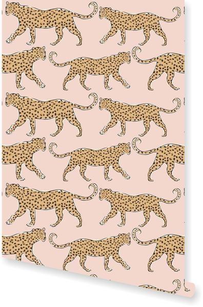 Leopard Wallpaper Leopard Wallpaper Blush Wallpaper Animal Print Wallpaper