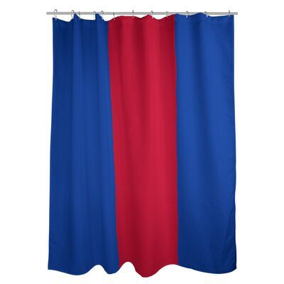 East Urban Home New York Striped Shower Curtain Liner Color Blue
