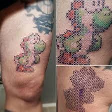 Cross Stitch Tattoo 24 Cross Stitch Tattoo Tattoos Pixel Tattoo