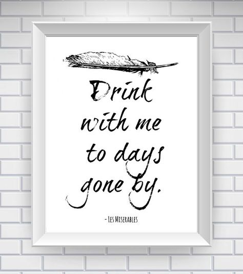 11 X 14 Les Miserables Print Literary Quote Typography Print