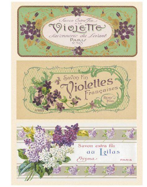 vintage french soap labels