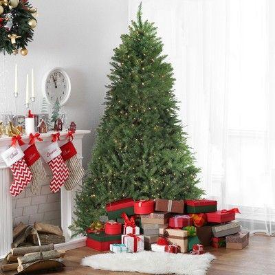 Northlight 9 Prelit Artificial Christmas Tree Medium Essex Pine Clear Lights Christmas Tree Clear Lights Artificial Christmas Tree Christmas Tree