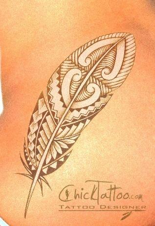 Chicktattoo Polynesian Style Tattoo Designs Tribal Feather Tribal Feather Tattoos Feather Tattoo Design Tribal Tattoo Designs