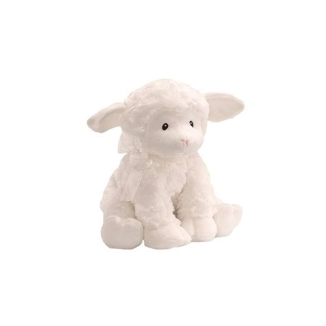 Featuring a wind-up design that plays ''Brahm's Lullaby'', this lamb plush toy by Baby Gund gives your little music enthusiast soft tones to relax to.