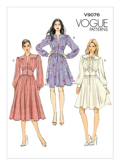 Vogue Dress Patterns, Vintage Dress Patterns, Vogue Sewing Patterns, Clothing Patterns, Vintage Dresses, Vintage Outfits, Modern Sewing Patterns, Skirt Patterns Sewing, Coat Patterns