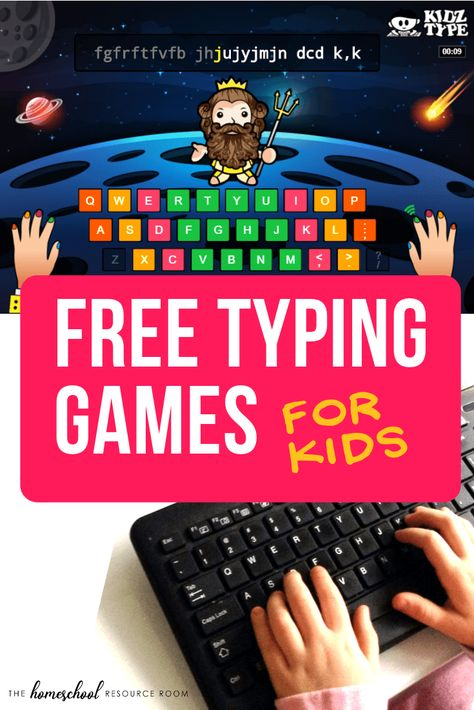 Free typing games for kids Learning Games For Kids, Learning Websites, Learning Activities, Teaching Kids, Activities For Kids, Free Game For Kids, Free Stuff For Kids, Virtual Games For Kids, Writing Games For Kids