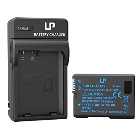 Amazon Com Lp En El14 En El14a Battery Compatible With Nikon D3100 D3200 D3300 D3400 D3500 D5100 D5200 D5300 D5500 D5 D3300 Coolpix Battery Charger