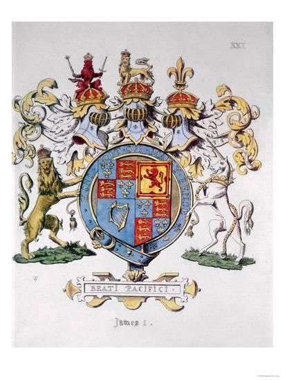 Coat Of Arms Of King James I Of England Giclee Print Coat