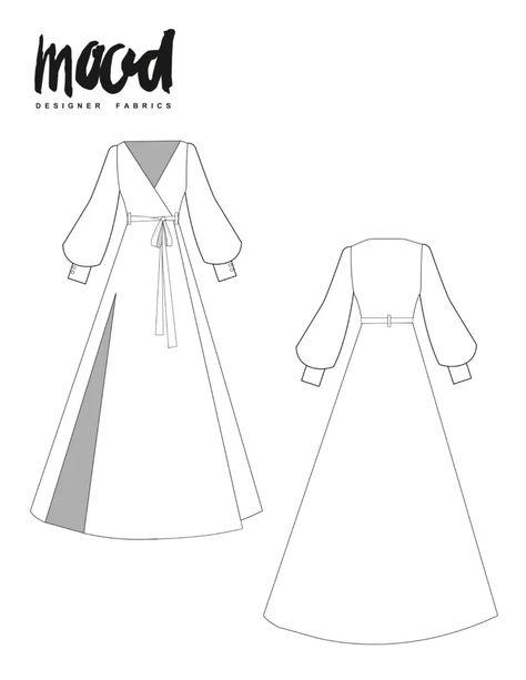 The Rue Dress - Free Sewing Pattern - Mood Sewciety - 16 dress Fashion sewing patterns ideas Dress Sewing Patterns, Sewing Patterns Free, Free Sewing, Clothing Patterns, Free Pattern, Dress Sewing Tutorials, Skirt Sewing, Skirt Patterns, Coat Patterns