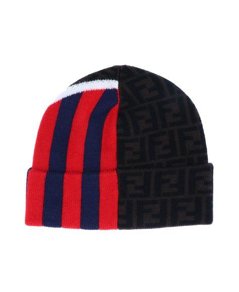 FENDI FF logo条纹帽子. #fendi